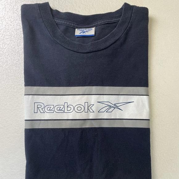 Vintage 1990s Reebok linear logo t-shirt size M